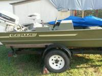 17 ft; 48 Johnson; trolling motor, depth finder, 2 deep