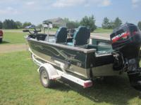 1999 17 ft Lund Angler with 75 Mercury 2 stroke.  Boat