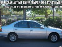 1999 Nissan Altima GXE!! 4-Cyl. 2.4L. Automatic. FWD!