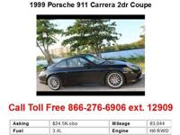 1999 Porsche 911 Carrera 2dr Coupe Coupe 2 Doors Black