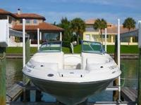 1999 Sea Ray 210 SunDeck powered by optional 220 hp