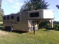 3-Horse Slant Load All Steel Trailer Rear Tack Area and