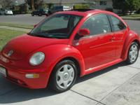 This 1999 Volkswagen New Beetle GLS 5 SPEED Coupe has