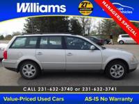 Options:  1999 Volkswagen Passat Gls|Silver| Please