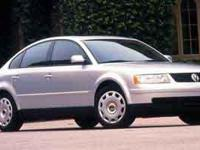 The 1999 Volkswagen Passat! A great car and a great