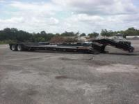 1999 Wallace DLBT 35-2 Drop Deck Trailer for sale.