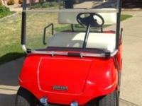 This 1999 Yamaha G19E Ultima 48-volt golf cart is in