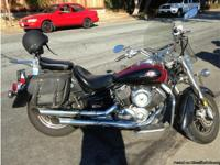 1999 Yamaha V Star 1100 Classic , low mileage. Saddle