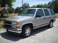 Options Included: 1999 Chevy Tahoe LT, 5.7 Vortec V8,