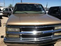 Parting out a 1999 Chevy Tahoe 4 door 4WD. This truck