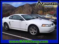Mustang GT, 4.6L V8 SOHC 18V, and White. American Icon!