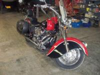 1999 Indian Chief Motorcycle Red/Black with matching