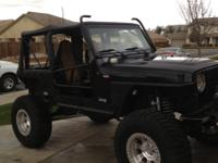 1999 JEEP TJ - STREET LEGAL ROCK CRAWLER, . HAS THE