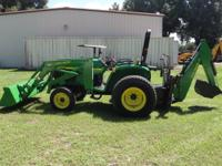 John Deere 4500 4x4 hst with jd 420 qt loader and jd 45