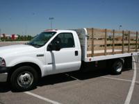 2006 FORD F350 STAKE BED TRUCK.12ft. Scelzi Flatbed
