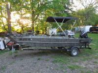 2007 19ft Mirrocraft huting/fishing boat 60hp e-tec