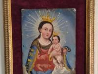 Beautiful original 19th century retablo from Mexico