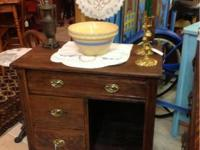 Great piece for any room!  19th century oak washstand