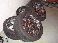 20 in chrome wheels and brand new tires these wheels