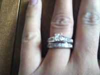 white gold wedding set size 6! Certified diamond (have
