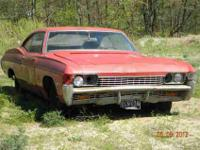 1968 Chevy Fastback Impala The car has been stored in a