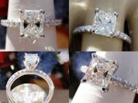 This is a 1.21CT Radiant Diamond Engagement Ring. The