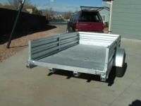 Awesome all-aluminum trailer, inside measurements are