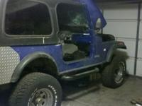 Selling a 1976 Jeep CJ-7, it has a rebuilt AMC 360