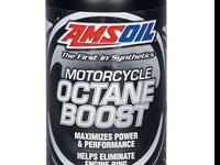 AMSOIL Motorcycle Octane Boost (part # MOB) increases
