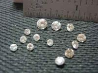 Diamonds pulled from jewelry that was sold for the