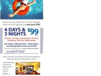4 days/3 nights at your choice of Westgate resorts for