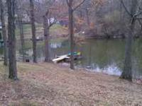 Fishing cabin steps from a 135 acre lake. Cabins sleeps