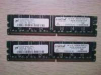 1GB (2x512mbs) Crucial PC2100 Desk Top Ram I have