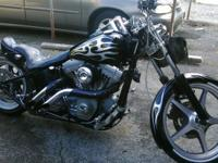Harley softail.custom paint black with silver metallic