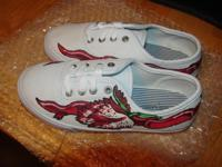 Customized Hand repainted youth tennis shoes. Brand