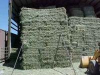 1st cutting Grass Hay, no rain, 75lbs bales , just got