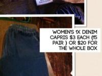 15 pair of Women's denim pants size 1 x This ad was