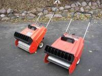 For sale are 2 - Jacobsen Snowburst snowblowers. Both