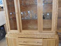 2 Piece Unique Bamboo Over Plywood China Cabinet