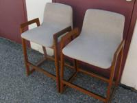 I have 2 Beautiful Modern Mid Century Wood Stools, with