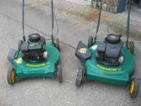 2- WEEDEATER BRAND LAWN MOWERS!!! GREAT COND..LIKE NEW