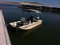 Selling a 14' Steury bass boat. The boat is in