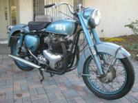 very cool and very rare BSA A10 with a Super Rocket