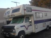 This RV runs and drives ok. Uses Gas, and It has a