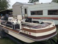 16' Dell Magic Deck Boat with 90hp Mercury outboard.