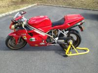This Ducati 748 is in very good shape. Comes with new