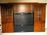 High-End Entertainment Center by Hooker. Fully