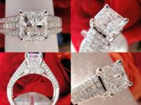 This is a GIA 2.06CT Radiant Diamond Engagement Ring.