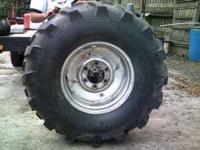 FOR SALE: 2 1/2 TON TRACTOR TIRES-SET OF 4 MOUNTED ON 6