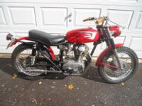 1966 Ducati 250 Scrambler Bevel Single. This bike is